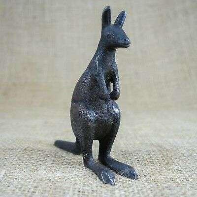 Kangaroo Vintage Bronze Animal Figurine