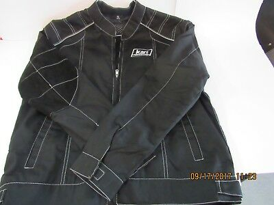 Kart Racewear Racing Jacket - Black with Right Arm Heat Safety Sleeve (Smal-XXL)