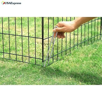 """Play Pen Dogs 24"""" x 24""""8 Panels Easy set up Fold down Secure Double Latch Door"""
