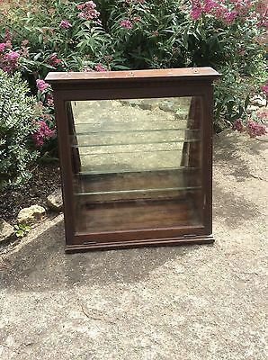 Antique Mahogan Display Cabinet Stand