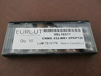 10 Pcs Eurcut Cnmg 432-Wr Dtcp126  Carbide Inserts Made In Luxembourg