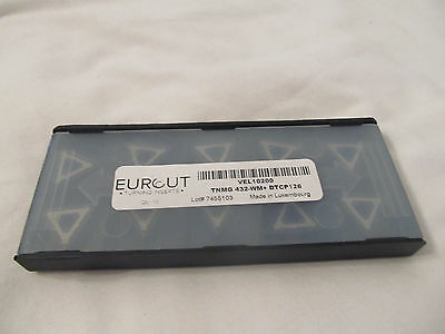 10 Pcs Eurcut Tnmg 432 Wm Dtcp 126 Carbide Inserts Made In Luxembourg