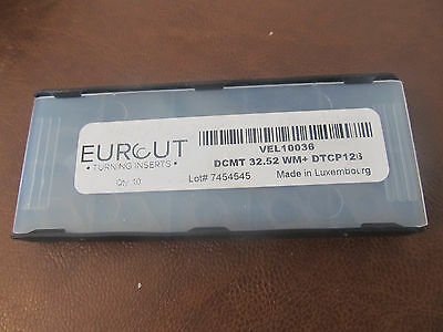 10 Pcs Eurcut Dcmt 32.52 Wm Dtpm 126 Carbide Inserts Made In Luxembourg