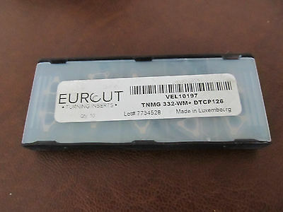 10 Pcs Eurcut Tnmg 332-Wm Dtcp 126 Carbide Inserts Made In Luxembourg