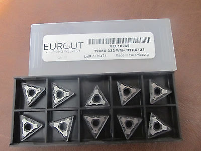 10 Pcs Eurcut Tnmg 332-Wm Dtck 121 Carbide Inserts Made In Luxembourg