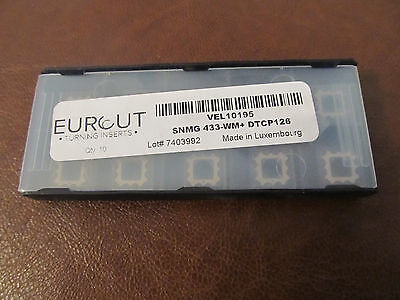 10 Pcs Eurcut Snmg 433-Wm Dtcp 126 Carbide Inserts Made In Luxembourg