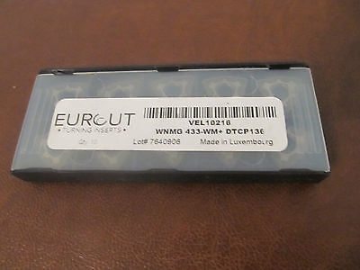 10 Pcs Eurcut Wnmg 433-Wm Dtcp 136 Carbide Inserts Made In Luxembourg
