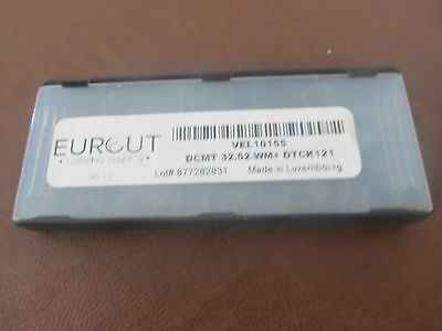 10 Pcs Eurcut Dcmt 32.52 Wm Dtck 121 Carbide Inserts Made In Luxembourg