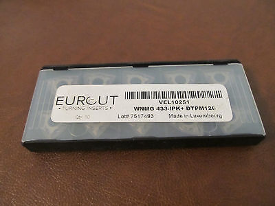 10 Pcs Eurcut Wnmg 433-Ipk Dtpm 126 Carbide Inserts Made In Luxembourg