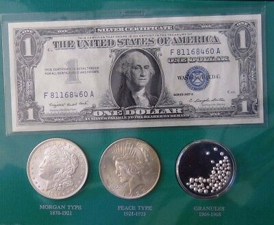 The Silver Story Collection - Morgan, Peace, Silver Certificate and Granules