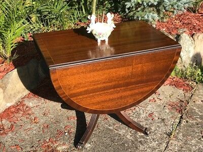 In The Regency Style Oval Top Extending Mahogany Dining Table
