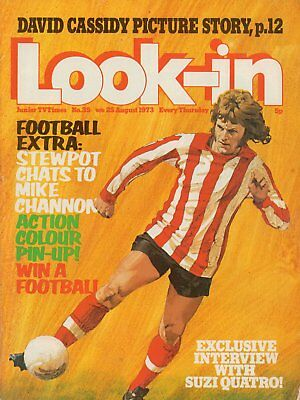 LOOK IN MAGAZINE. ISSUE 35. 25th August 1973. Mike Channon Double Spread.