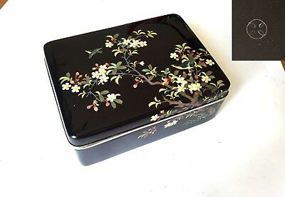Antique Japanese damaged cloisonne box Ando Jubei restoration Meiji Signed vase