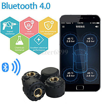 Bluetooth V4.0 Car Tire Pressure Monitor System TPMS External Sensor for Android