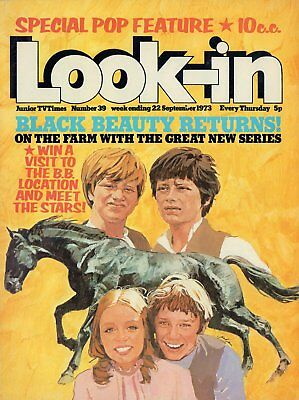 LOOK IN MAGAZINE. ISSUE 39. 22nd September 1973. Black Beauty Double Spread.