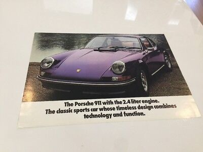 Vintage 1973 Porsche 911 Dealer Sales Brochure 4 Pages 911T 911E 911S SUPERB