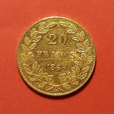 Leopold Premier 20 Frank goud-or-gold 1865 pos. A