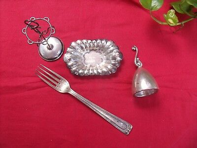 Plata Lote Antigua Purriños - Solid Silver Sterling - Argent Massif - 171 Gramos