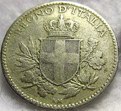 1919-R Italy 20 Centesimi ~ Beautiful, Well-Struck (over KM# 28) ~ KM# 58