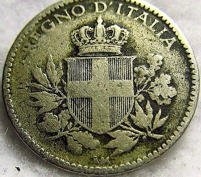 1918-R Italy 20 Centesimi ~ Beautiful, Well-Struck (over KM# 28) ~ KM# 58