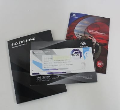 15x SILVERSTONE Experience Is Everything œ20 Gift Vouchers Exp 08.18 œ300 Total