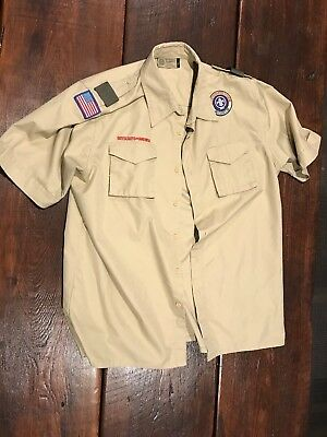 Boy Scout Adult Large Uniform Short Sleeve Shirt