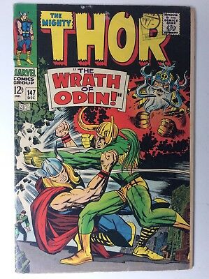 The Mighty Thor # 147  THOR V LOKI Cover + Origin Of The Inhumans -Silver Age