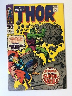 The Mighty Thor # 142 1967 Super-Skrull!