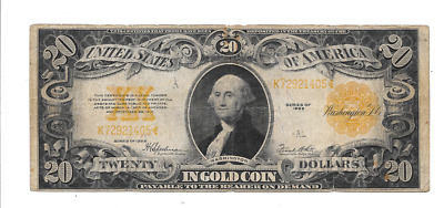 1922 $20 Large Gold Certificate Fr #1187