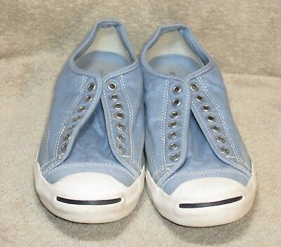 Converse Jack Purcell Faded Blue Canvas Low Top Sneakers Laceless M11 - W13