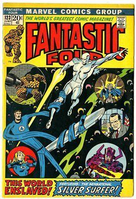 Fantastic Four #123 VF/NM 9.0  Silver Surfer app.  Marvel  1972  No Reserve