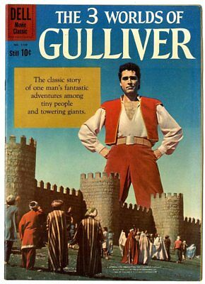 Four Color #1158 VF/NM 9.0  3 Worlds of Gulliver  Photo Cover  Dell  1960