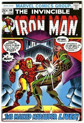 Iron Man #60 NM- 9.2 white pages  Masked Marauder  Marvel  1973  No Reserve