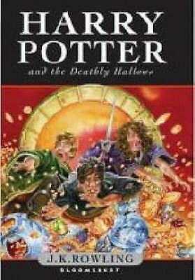 Harry Potter and the Deathly Hallows by J.K. Rowling (English) Hardcover Book