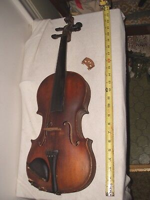 "Old Antique Violin A.P.Robert?Detroit Signed  Will Need Restoration ~23-1/2"" L"