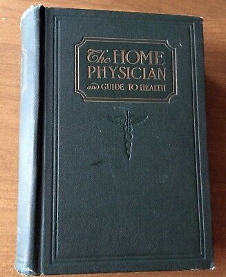 Vintage Medical Book 1923 The Home Physician & Guide To Health Marble page edges