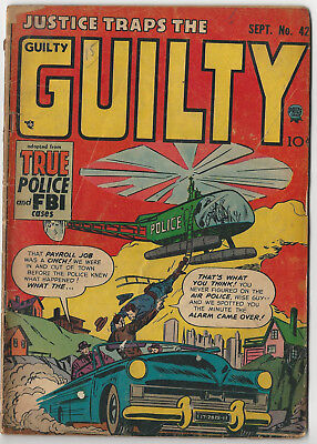 Prize's JUSTICE TRAPS THE GUILTY #42 (Vol 5, No. 12) - Sept 1952