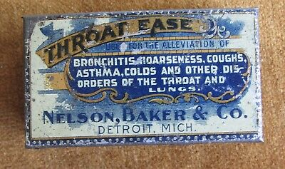 Vintage THroat EAse Nelson BAker Medical Tin