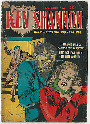 Quality's KEN SHANNON #7 - Oct 1952 - Jack Cole - Reed Crandall