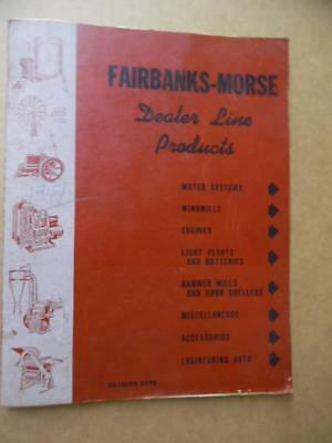 1946 Fairbanks Morse Dealer Line Catalog Windmill Z Engine Light Plants More BIG
