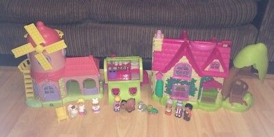 Elc Happyland Fairy Toadstool And Rare Coloured Cottage