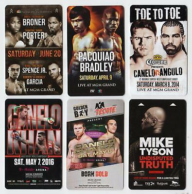 MGM GRAND casino*MGM Ufc/Boxing Fight Cards set #5 *Las Vegas hotel~6~ key cards