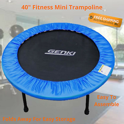 Small Exercise Trampoline Fitness Rebounder Home Gym Metal Frame Foldable Jumpin