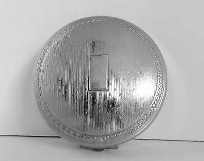 VTG Richard Hudnut Deauville Silver Plate? Powder Rouge Compact Duo c1920's EUC