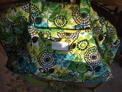 Vera Bradley Preowned Large Duffle - Lime's UP