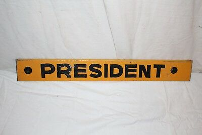 "Vintage 1950's President Soda Pop Bottle Gas Station 26"" Metal Sign"