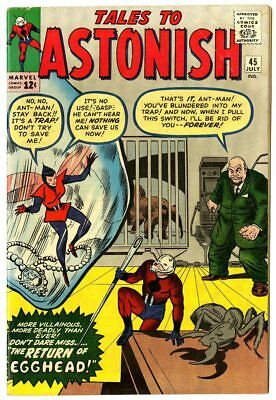 Tales to Astonish #45 VG 4.0  2nd app. The Wasp  Ant-Man  Marvel  1963  No Resv