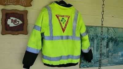 Hi-Vis Insulated Safety Bomber Reflective Jacket Yellow Black XL Class 3 LEVEL 2
