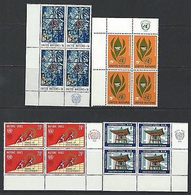United Nations - Plate Blocks Lot #4 All Are Mnh