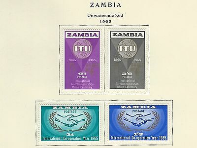 Africa - Zambia - Lot Of Mounted Stamps (1965-1966) Fresh Colours